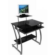 продам компьютерный стол из чёрного закалённого стекла
