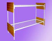 кровати металлические для студентов,  двухъярусные и одноярусные